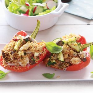 Couscous-filled capsicums
