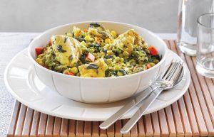 One-pot chicken pilaf