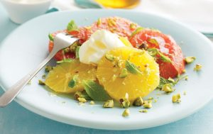 Orange and grapefruit salad with pistachios