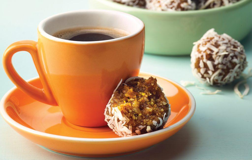 Orange, apricot and cashew bliss balls