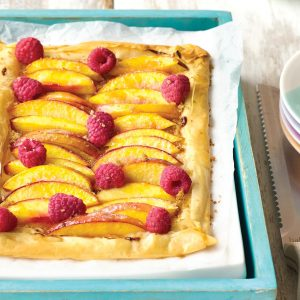 Peach and berry tart