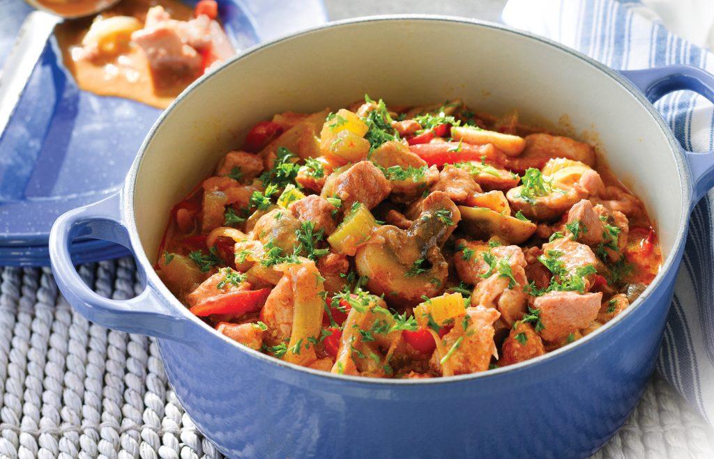 Pork and paprika casserole