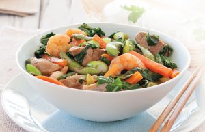 Pork and prawn noodles