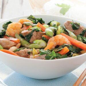 Pork and prawn noodles