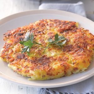 Potato and celeriac cakes