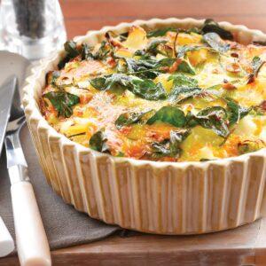 Potato and spinach frittata
