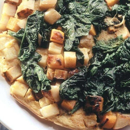Potato and spinach tortilla