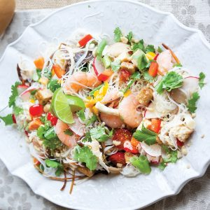 Prawn and tofu noodle salad