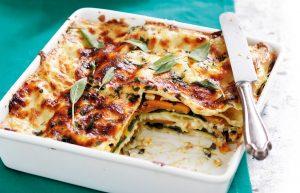 Pumpkin, feta and sage lasagne