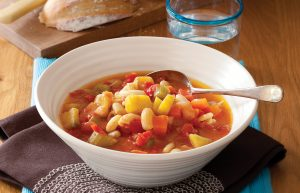 Quick bean and pasta soup