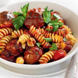 Quick meatballs in tomato sauce
