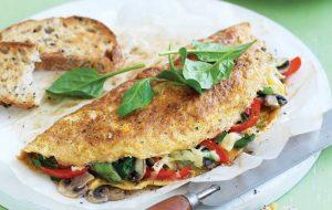 Quick vege omelette