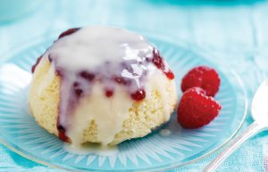 Raspberry steamed pudding