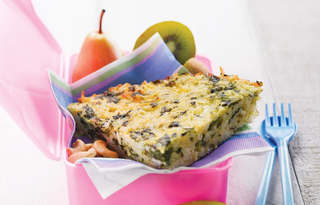 Rice and vege frittata