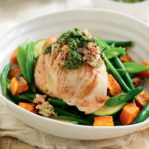 Ricotta and capsicum-stuffed chicken
