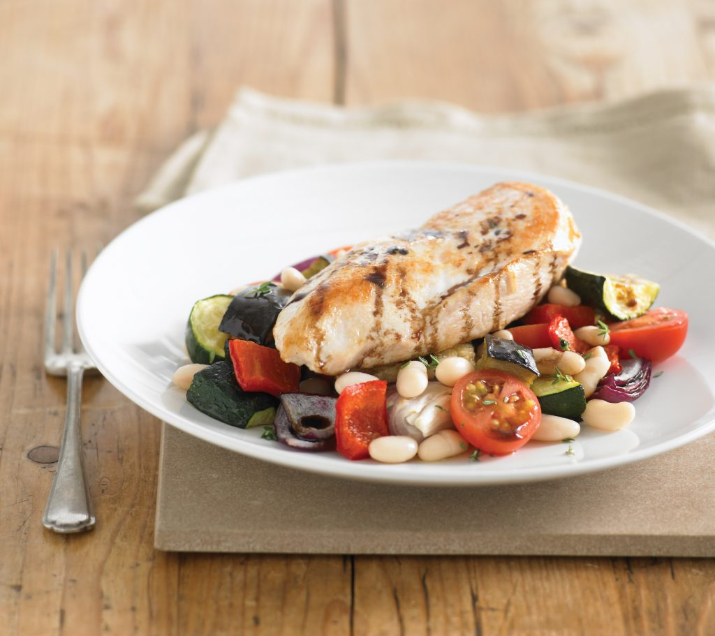 Roasted chicken breast with ratatouille