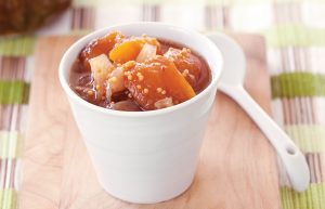 Roasted peach chutney