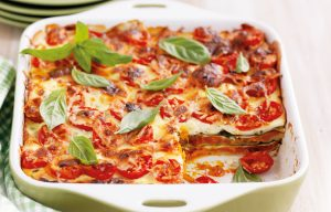 Roasted pumpkin and ricotta lasagne