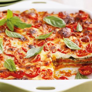 Roasted pumpkin and ricotta lasagne