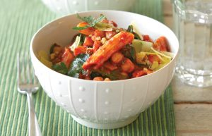 Rocket and chickpea penne