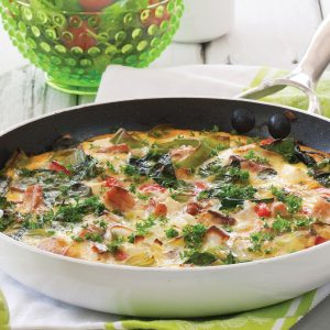 Salmon and potato frittata