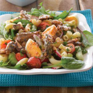 Sardine and egg pasta salad