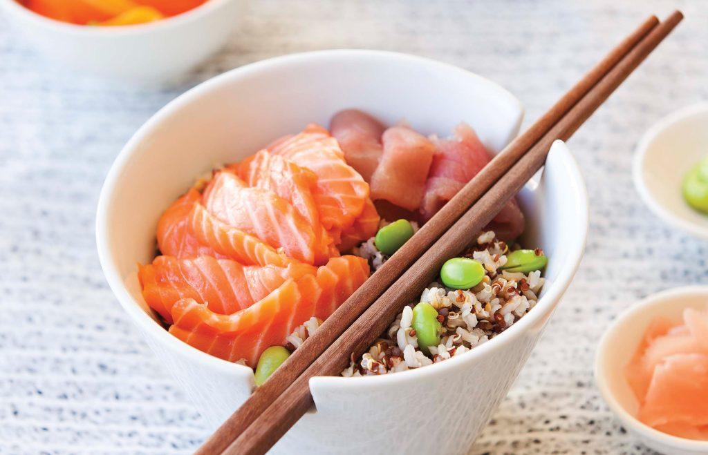 Scattered sushi (Chirashizushi)