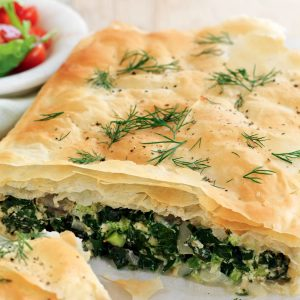 Silver beet, ricotta and broccoli pie