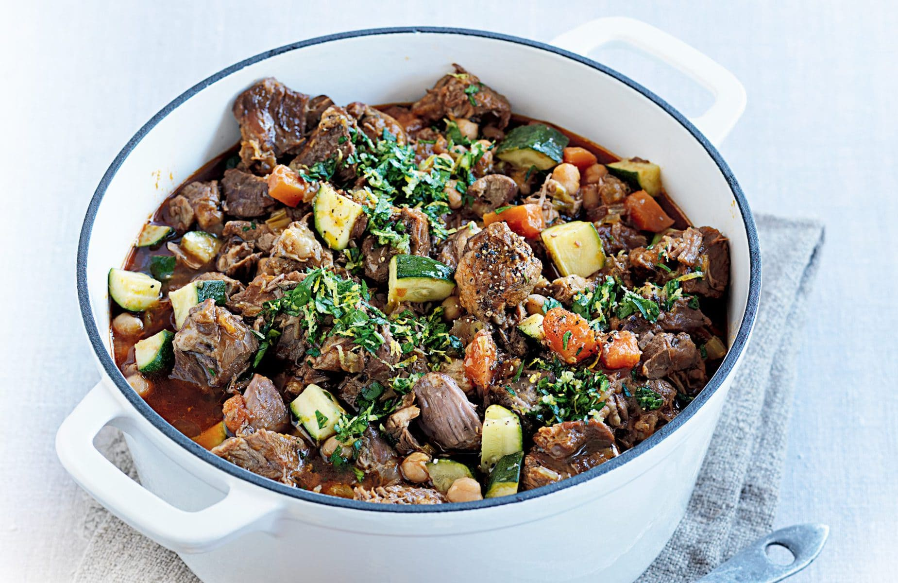Slow-cooked lamb with gremolata