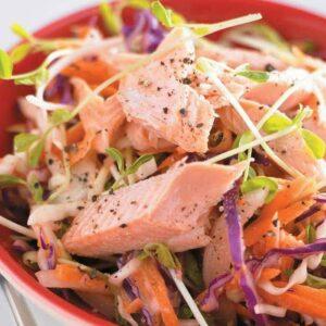Smoked salmon coleslaw