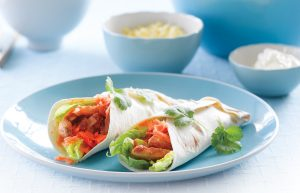 Smoky chicken burritos