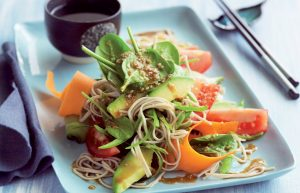 Japanese soba noodle and sesame salad