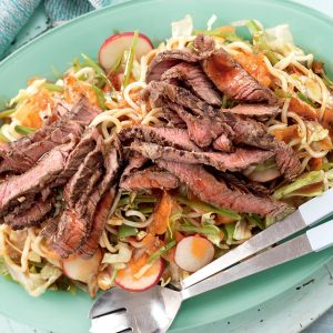 Soy and ginger beef with noodle salad