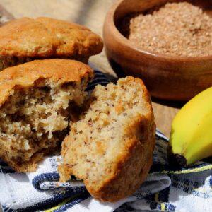 Soy banana bran muffins
