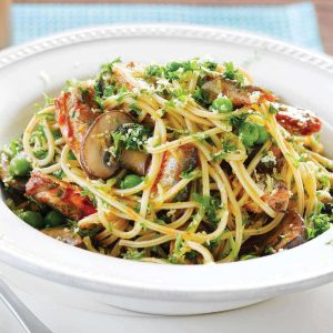Spaghetti with sardines