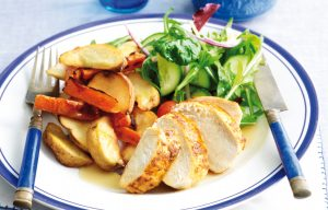Speedy roasted chicken and vegetables