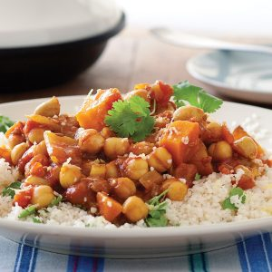 Spiced butternut and chickpea tagine