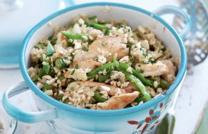 Spiced chicken and cashew pilaf
