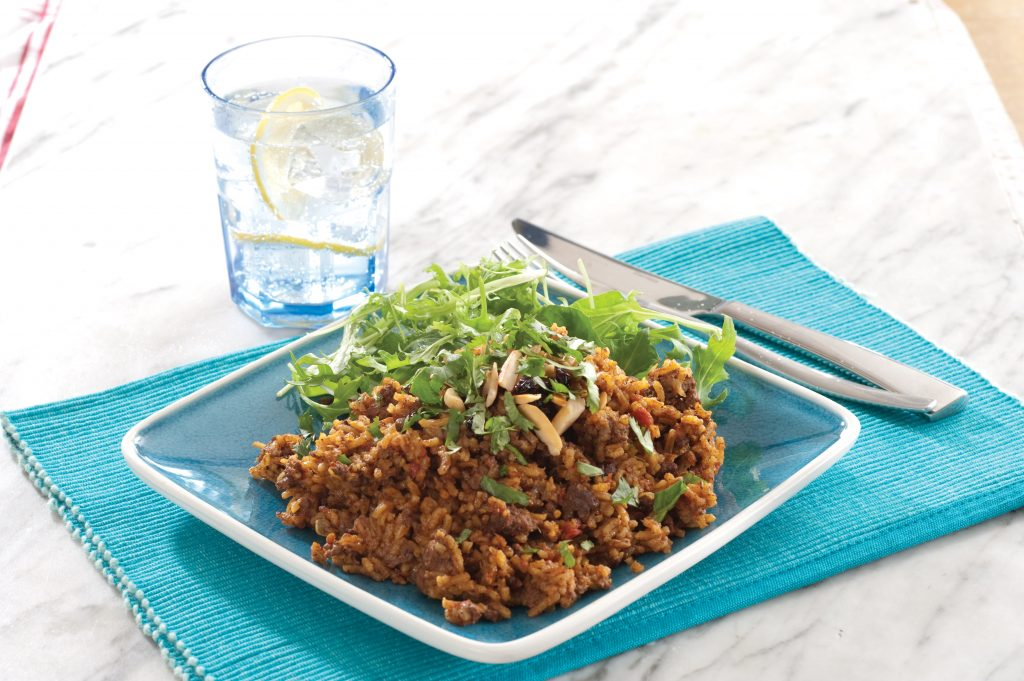 Spicy Indian mince and rice