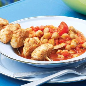 Spicy chicken and chickpeas