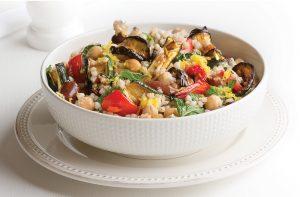 Spicy eggplant buckwheat salad