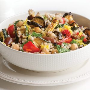 Spicy eggplant buckwheat salad