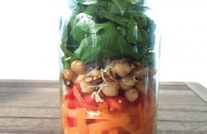 Spring salad in a jar