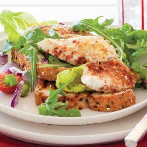 Summer fish open sandwich