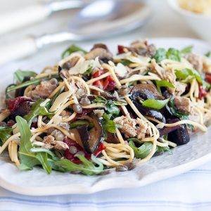 Summer vege pasta with tuna