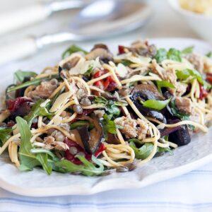 Summer vege pasta with tuna
