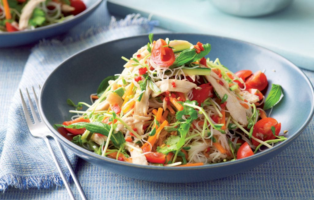 Sweet Chilli Chicken And Noodle Salad Healthy Food Guide
