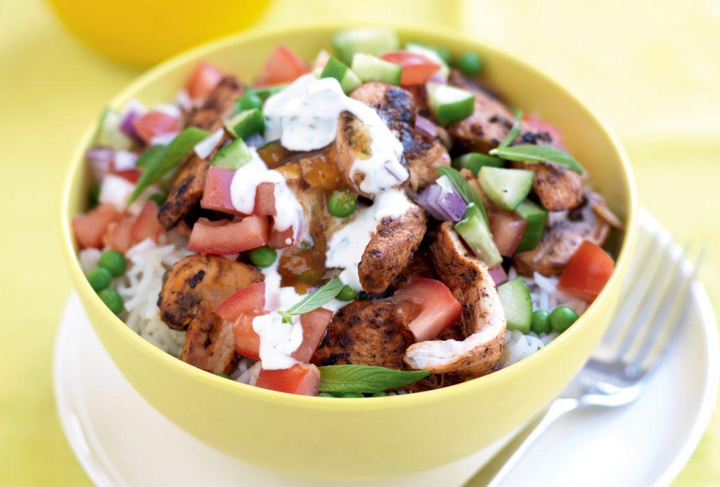 Tandoori chicken and vegetable stir-fry