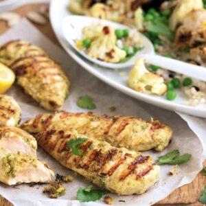 Tandoori chicken with cauliflower rice