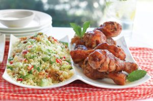 Tangy chicken drumsticks